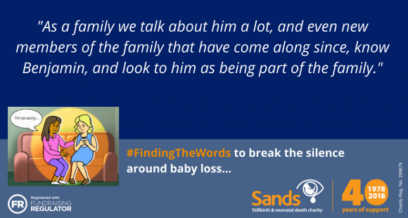 """#Sands40: """"We know that Benjamin is watching over us"""" by Andrea and Ian Hawkes"""