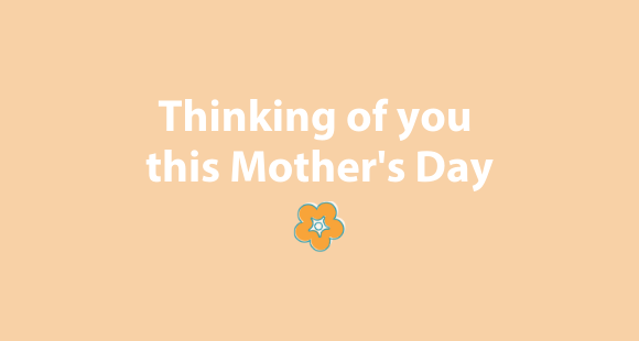 Thinking of you this Mother's Day image with a flower design