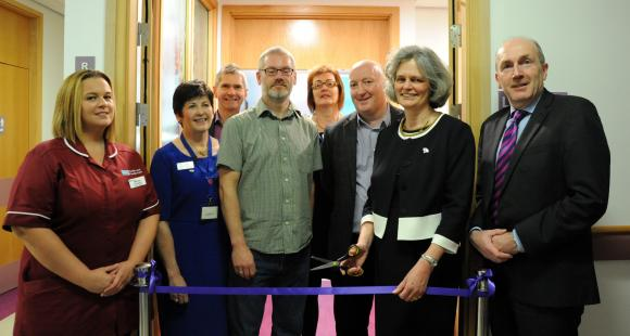 Dr Clea Harmer opened the Lavender Suite at Altnagelvin Hospital in Londonderry.