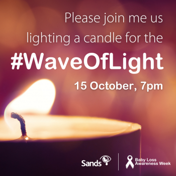 I am lighting a candle for Wave of Light social media image
