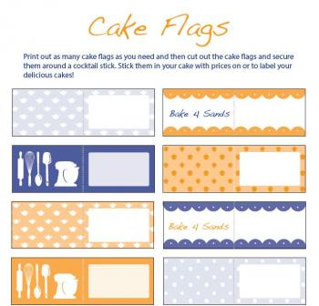 Cake flags