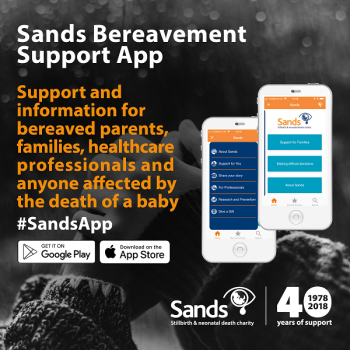 The social media graphic for theBereavement Support App