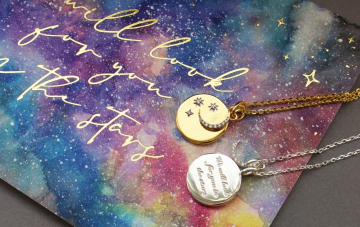 Carrie Elizabeth We will look for you in the stars necklace in aid of Sands